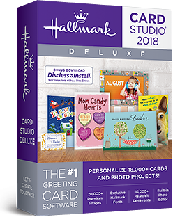 hallmark card studio 2018 deluxe lets create together - Card Making Software