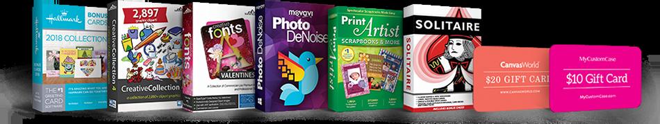 Hallmark card studio deluxe 2018 scrapbook w 220 bonus sw 30 canvasworld 20 gift card m4hsunfo