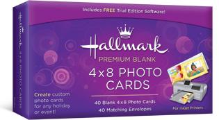 Hallmark premium blank 4x8 photo cards m4hsunfo